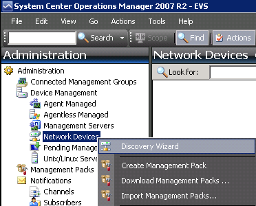 Monitor a SNMP device with Microsoft SCOM 2007 R2 – Josh's