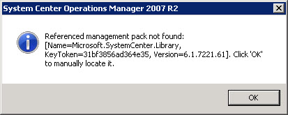 Problem with SCOM Authoring Console after CU4