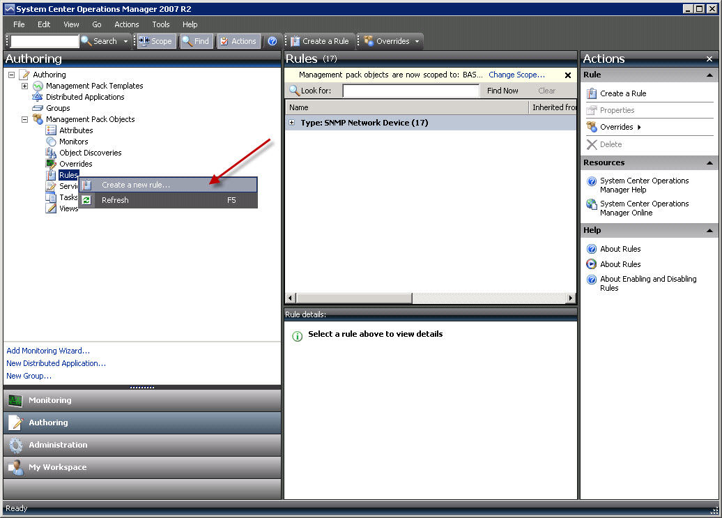 Create a calculated SNMP Rule in SCOM