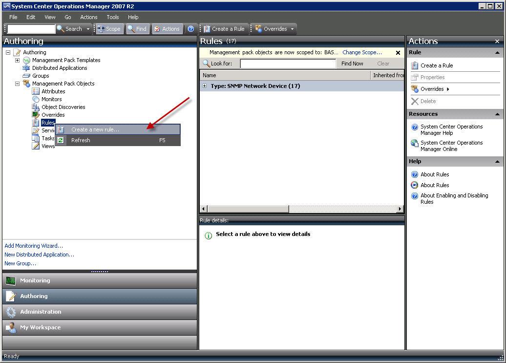 Create a calculated SNMP Rule in SCOM