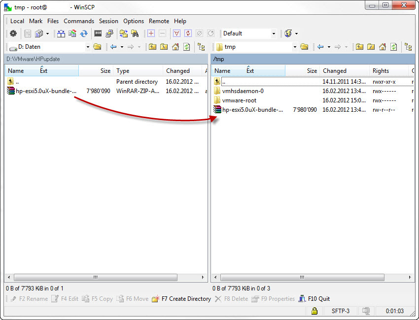 Installing HP ESXi Offline Bundle for VMware ESXi 5 0