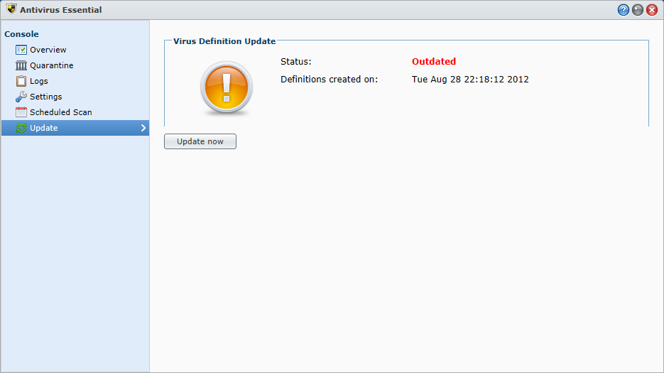 auto-update Antivirus Essential for Synology NAS behind