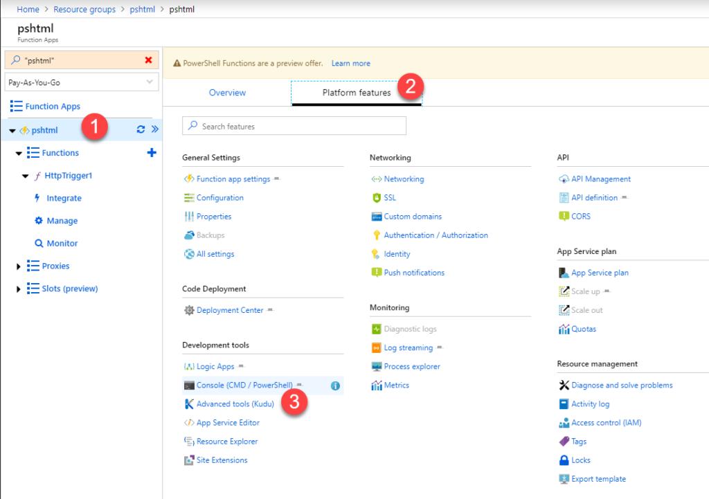 PowerShell and PSHTML in Azure Function App – Josh's IT-Blog